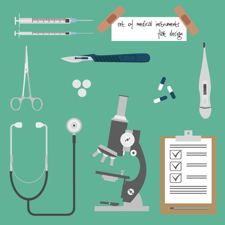 enfermera quirurgica: Conjunto de instrumentos m�dicos