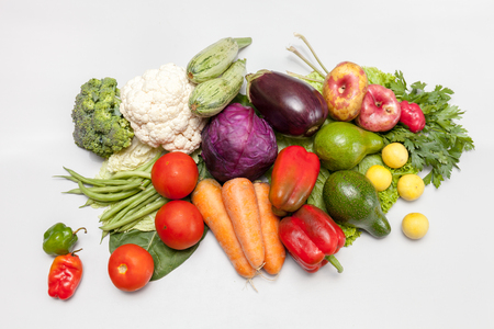 Bunch of fresh vegetables. Environmentally friendly and safe. A variety of vitamins and mineral nutrients