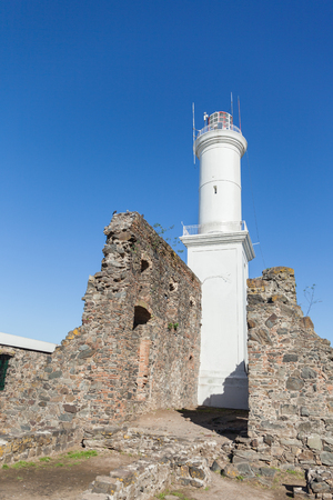 Lighthouse in Colonia del Sacramento, small colonial town, Uruguay.