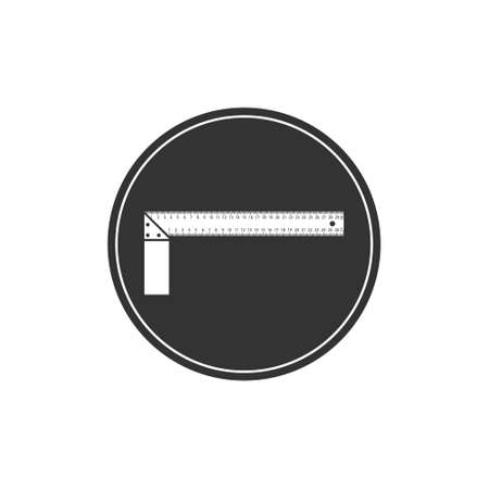 Icon in the form of a construction square. Repair and construction of apartments and private houses.