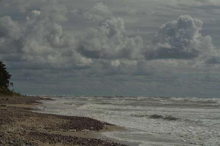 summer storm the Baltic Sea, Lithuania Standard-Bild