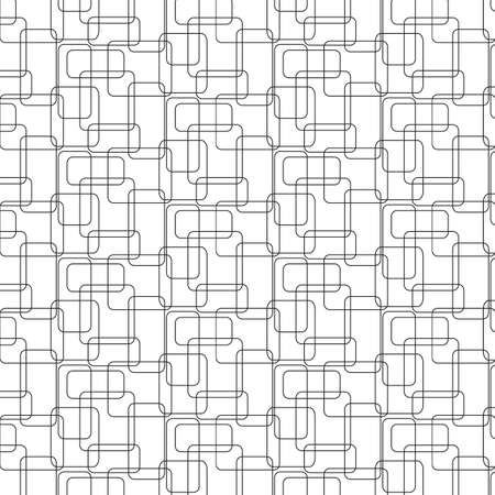 vanish: Vector illustration seamless pattern the intersecting rectangles with rounded edges Illustration