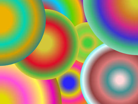 Abstract background concentric circles of different colors