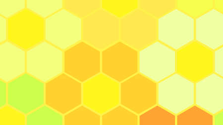 Vector illustration. Abstract background. Hexagonal flowers cell. Different colors. Illustration