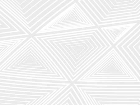 Ilustración vectorial Fondo abstracto. Concentración de formas geométricas blancas sobre un fondo gris. Colores diferentes.