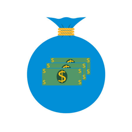 moneybag: Vector. The icon. Bag with money Dollar Illustration