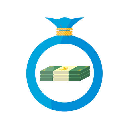 Vector. The icon. Bag with money Dollar Illustration