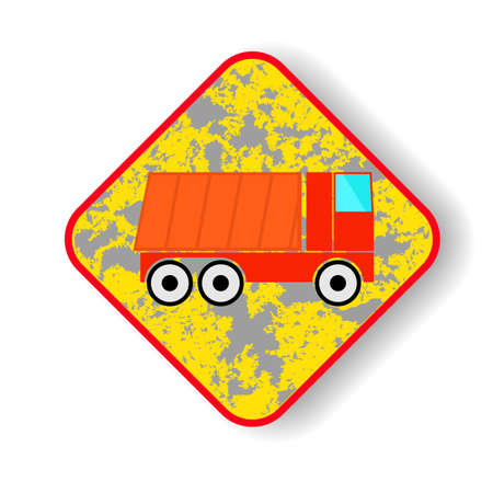 mine site: Dump truck icon.