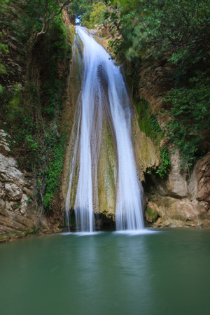 Neda waterfall, Greece Stock Photo