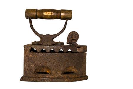 old rusty iron isolated on white background Stock Photo