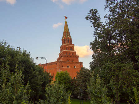 The Tower of the Moscow Kremlin. A popular tourist destination. Russia Moscow
