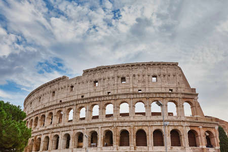 Colosseum in Rome without people Foto de archivo