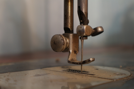 The old sewing machine. Vintage.