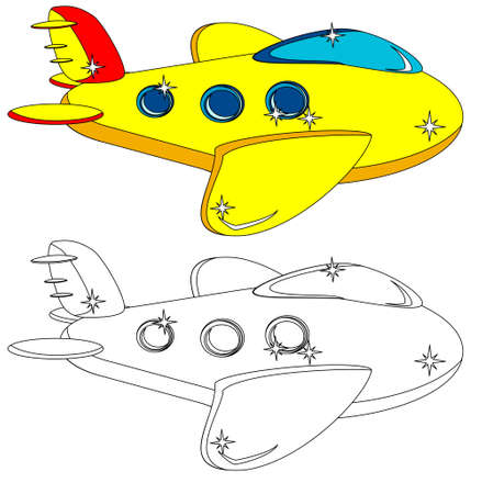 The Aircraft Is Not Painted And Colored, Vector Vector