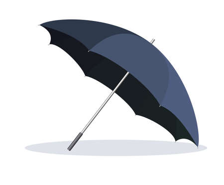 weather protection: Opened umbrella isolated on white background. Illustration