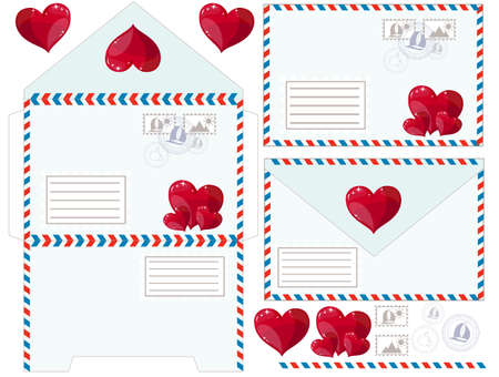 Envelope with heart, vector illustration Vector