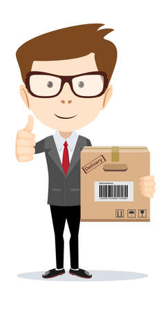 in order: Businessman brought order illustration Illustration