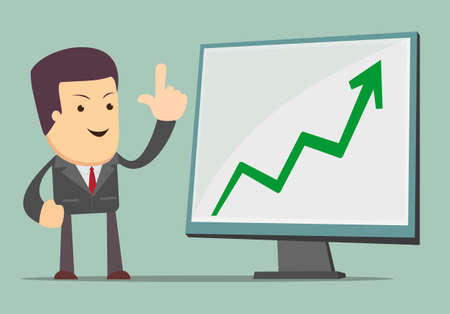 Businessman Presenting Business Growth Chart