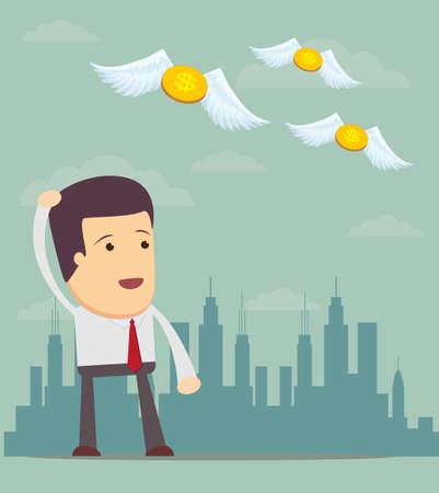 money pocket: El hombre de negocios no tiene dinero