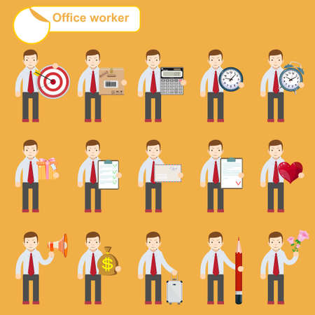 negotiator: office worker - business sketches Illustration