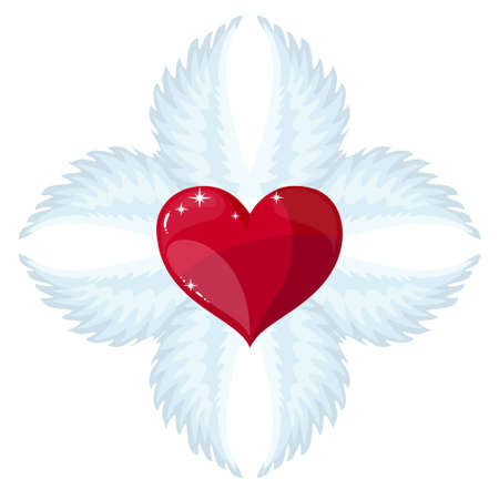 cross and wings: Cross- angel wings and a heart in the middle
