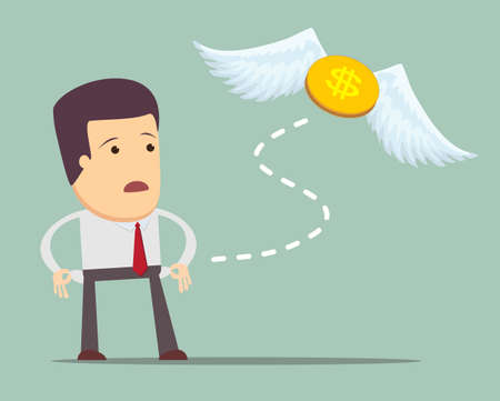money: Businessman has no money