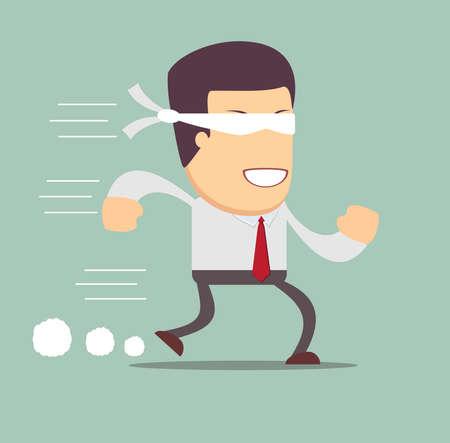 blind man: Concept of risk in business with blind businessman Illustration