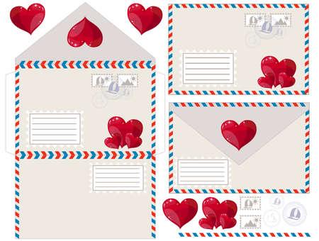 envelope: Envelope with heart, vector illustration Illustration