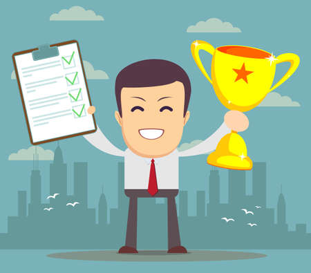 recompense: Winner businessman Illustration