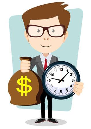 reloj de arena: El dinero es tiempo. Gestión del tiempo