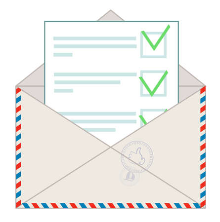 Approved message on white background Stock Illustratie