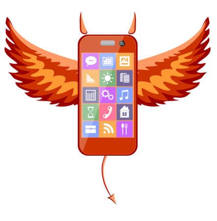 Smartphone devil Illustration