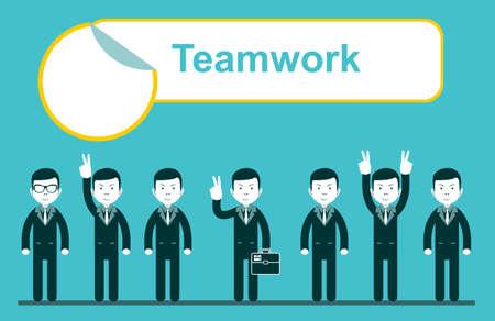 linked hands: team work design, vector illustration eps10 . Stock Vector illustration