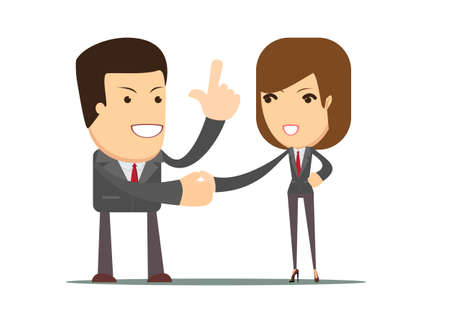 business people shaking hands: Handshake of business partners or people, the concept of an agreement, vector illustration