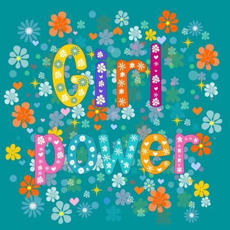 Girl power. Greeting card for a girl vector Illustration