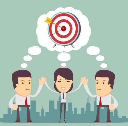 Los hombres de negocios llegaron a la misma idea general de éxito, pensamientos