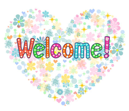 welcome back decorative lettering text. T-shirt, bag design, poster, greeting card illustration. Vector typography.