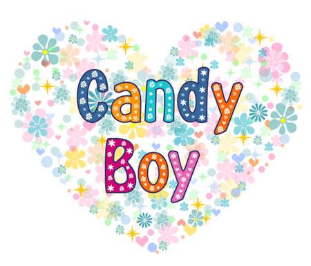 famosos: caramelo de la tarjeta de felicitación de niño. Vectores
