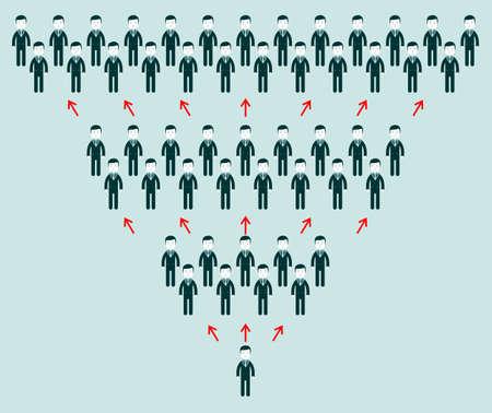gente comunicandose: la comunicación en todo el mundo y los medios sociales concepto de arte. Las personas que se comunican en todo el mundo con una gran cantidad de conexiones. Vectores