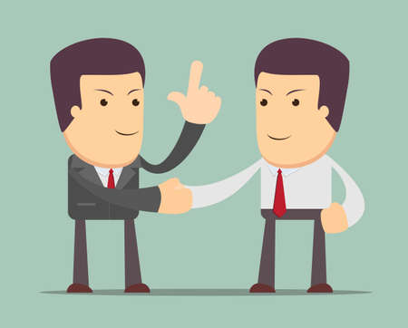 Business people shaking hands. Illustration