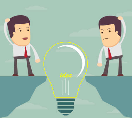 man Look at a bulb and do not know what to do