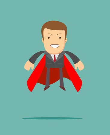 superhero businessman the concept of success.