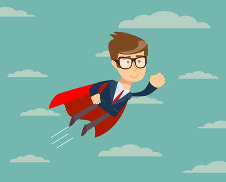 Super empresario en Cabo rojo volando hacia el éxito.