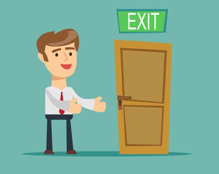Businessman has found exit, concept 向量圖像