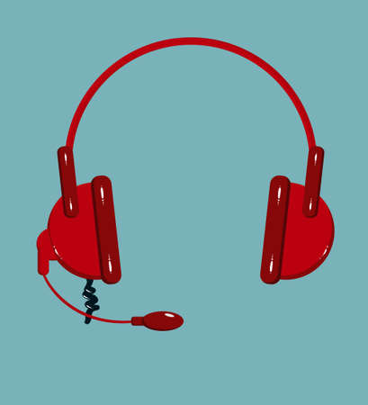 portable audio: Vector Headphone icon isolated on background. Flat design vector illustration concept for web banner, web and mobile, infographics. Illustration