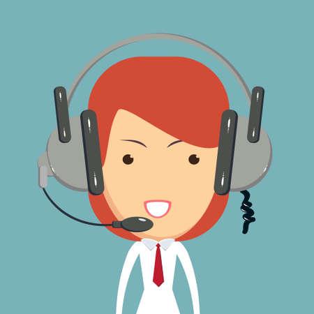 Dispatcher consultant icon. Stock Photo