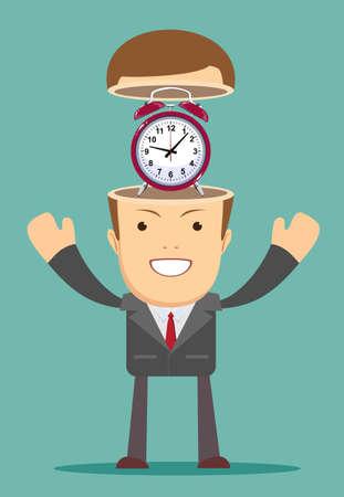Concept de gestion du temps.