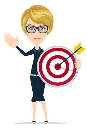 conformity: Marketing Target. Stock flat vector illustration. Illustration