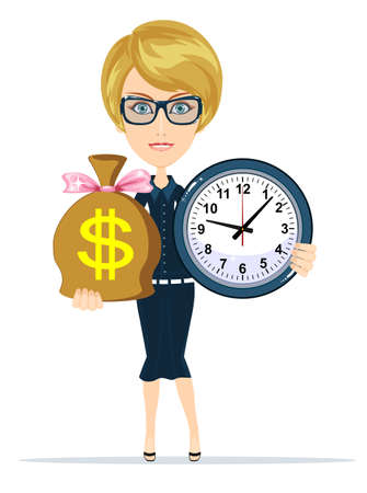 paying: Time is money concept. Illustration
