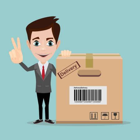 Delivery man illustration.